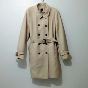 Reitmans light tan double breasted belted trench coat size 2x